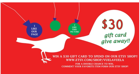 Win a $30 Gift Card to spend on My Etsy SHop!!!